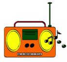 Dibujo Radio cassette 2 pintado por aury