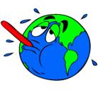 Dibujo Calentamiento global pintado por mireia123