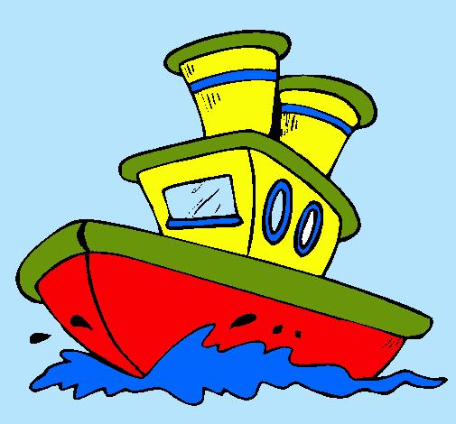 Dibujo de barco en el mar pintado por jaumec en dibujos - Imagenes de barcos infantiles ...