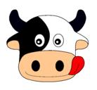 Dibujo Vaca pintado por estefanii