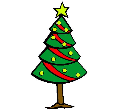 Dibujo de rbol de navidad II pintado por Navidad en Dibujosnet
