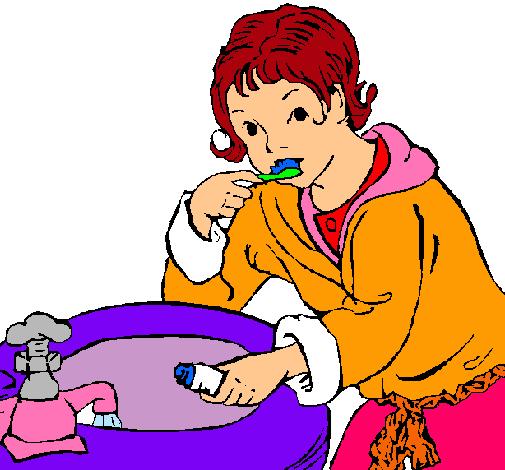 Dibujo de Niño lavándose los dientes pintado por Dana en Dibujos ...