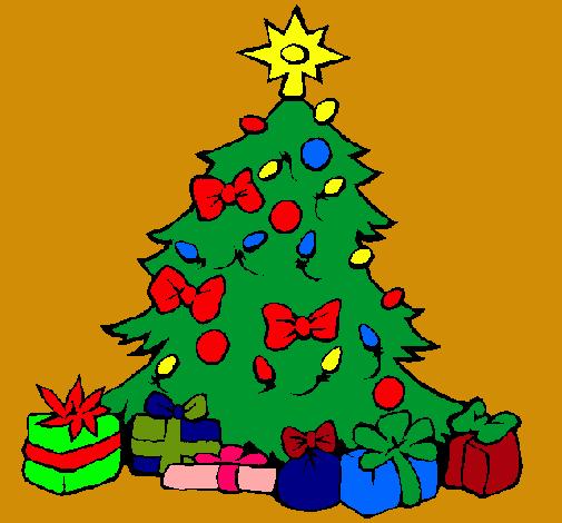Dibujo de rbol de navidad pintado por arlenne en dibujos for Dibujos de navidad pintados