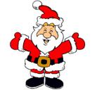 Dibujo Papa Noel feliz pintado por JACARANDA