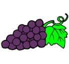Dibujo racimo pintado por uvas