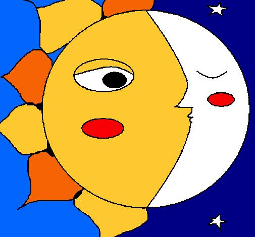 Dibujo de Sol y luna 3 pintado por Pepito en Dibujosnet el da 23