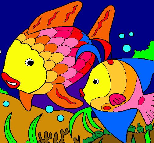Dibujo de Peces pintado por Peces en Dibujosnet el da 251110 a