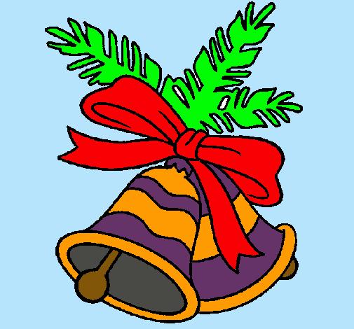 dibujo de campanas de navidad pintado por navidad en