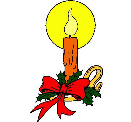 Dibujo de vela de navidad pintado por mireia20 en dibujos - Dibujos de navidad en color ...