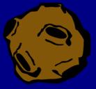 Dibujo Asteroide pintado por planetoide