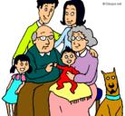 Dibujo Familia pintado por pupi