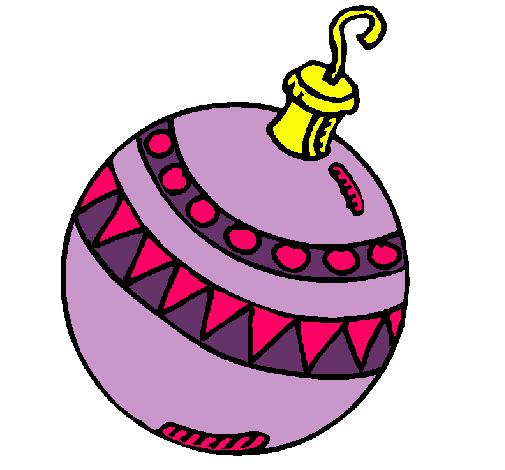 Dibujo de bola de navidad pintado por nari en for Dibujo bola navidad