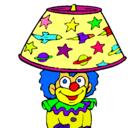 Dibujo Payaso lámpara pintado por lizy