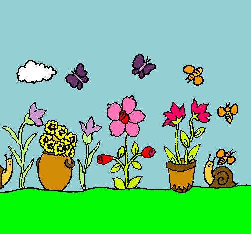 como dibujar un jardin imagui ForJardin Dibujo
