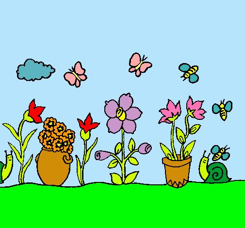 Dibujo de jard n pintado por yara en el d a 17 for Jardin dibujo