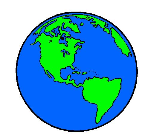 Dibujo de planeta tierra pintado por planeta en dibujos net el d 237 a 18