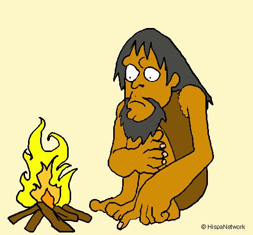 Dibujo de Descubrimiento del fuego pintado por Anitabasaldella en