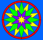 Dibujo Mandala 28 pintado por Victorious