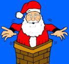 Dibujo Papa Noel en la chimenea pintado por Victorious