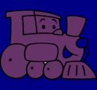 Dibujo Tren pintado por Victorious