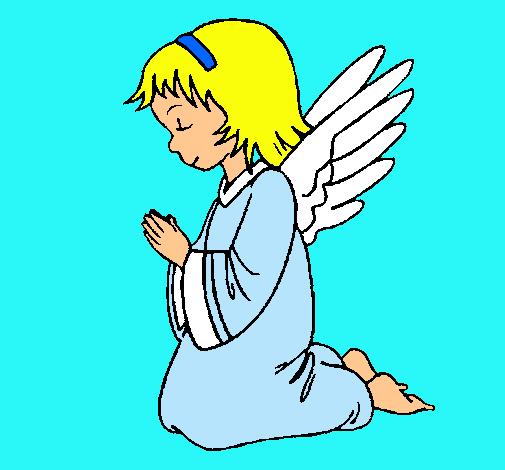 Dibujo de Ángel orando pintado por Alba-adela en Dibujos.net el ...