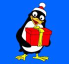 Dibujo Pingüino pintado por goku