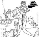 Dibujo Barbie sirena y la reina sirena pintado por mdgrr