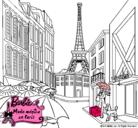 Dibujo Barbie en la Torre Eiffel pintado por estherstar