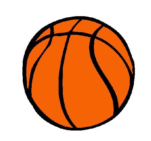 dibujo de pelota de b u00e1squet pintado por balon en dibujos LA Lakers Logo Coloring Page Lakers Logo Drawing