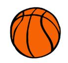 Dibujo Pelota de básquet pintado por balon