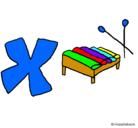 Dibujo Xilófono pintado por keisy