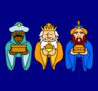 Dibujo Los Reyes Magos 4 pintado por goku