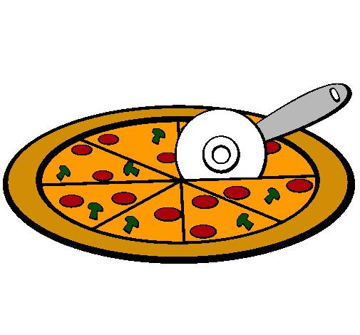 Dibujo de Pizza pintado por Pizza en Dibujosnet el da 050111 a