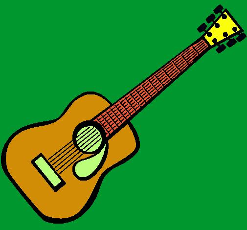 Dibujo de Guitarra española II pintado por Nikko en Dibujos.net el ...