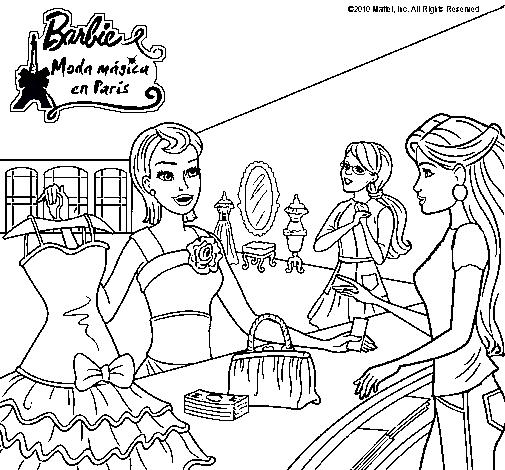 Dibujo de Barbie en una tienda de ropa pintado por Mdgrr en