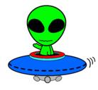 Dibujo Alienígena pintado por ovni