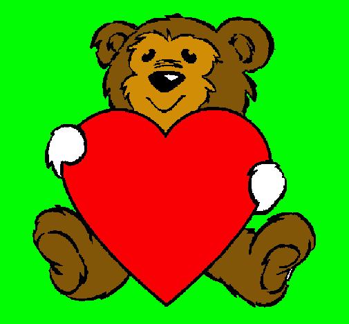 Dibujo de Oso enamorado pintado por Corazon en Dibujos.net el día ...