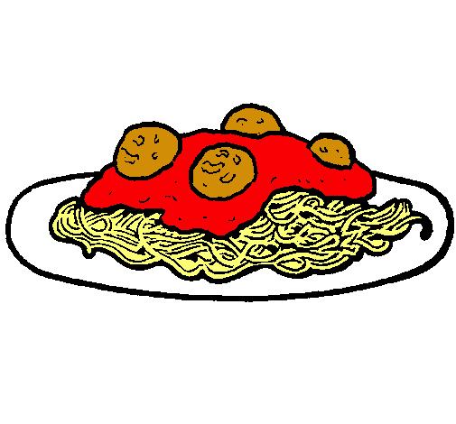 Dibujo de Espaguetis con carne pintado por Popalba en Dibujos.net ...