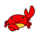 Dibujo Acuarel el cangrejo pintado por octonautas