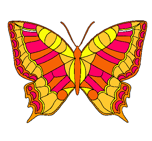Dibujo de Mariposa pintado por Libra en Dibujosnet el da 1001