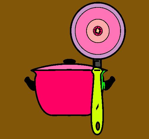Dibujo de utensilios de cocina pintado por geral en for Utensilios de cocina logo