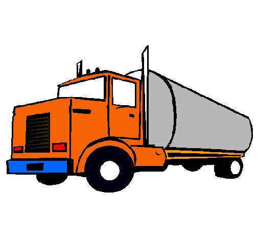 Dibujo de Camión cisterna pintado por Tractomulas en Dibujos.net ...