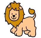Dibujo León pintado por jhoana