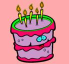 Dibujo Pastel de cumpleaños 2 pintado por tinkerbell