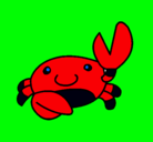 Dibujo Acuarel el cangrejo pintado por tinkerbell