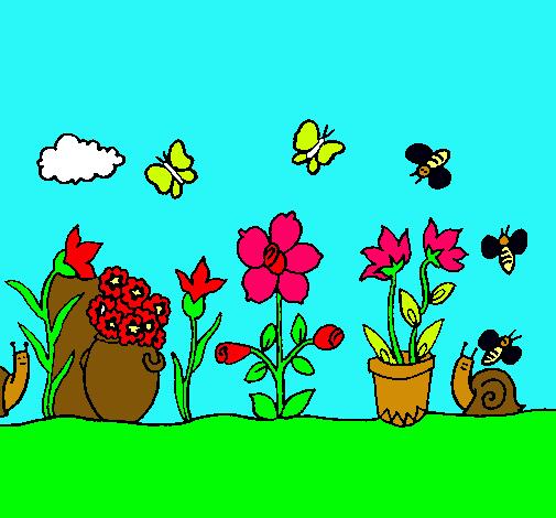 Dibujo de jard n pintado por nayitax en el d a for Jardin dibujo