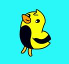 Dibujo Dibu el pollito pintado por tinkerbell