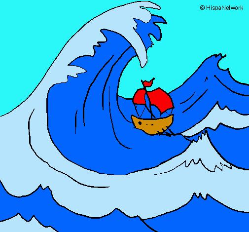 Dibujo de Gran ola pintado por Anto265 en Dibujosnet el da 2701