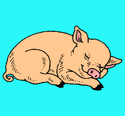 Dibujo de Cerdo durmiendo pintado por Cochinito en Dibujos.net el ...