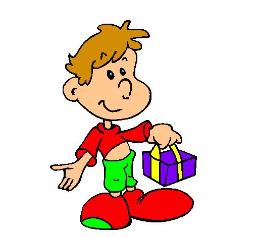 Dibujo de Hijo con un regaldo pintado por Ireee en Dibujos.net el ...